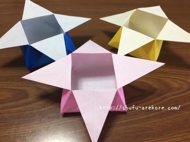 クリスマス 折り紙 折り紙 箱 簡単 : shufu-arekore.com