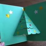 クリスマスカードを手作りで簡単に!飛び出すツリーや結晶の作り方
