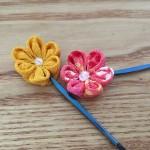 ちりめん細工で髪飾りを手作りしよう!花の作り方